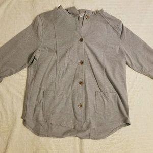 Susan Graver XL jacket long sleeve hoodie Top